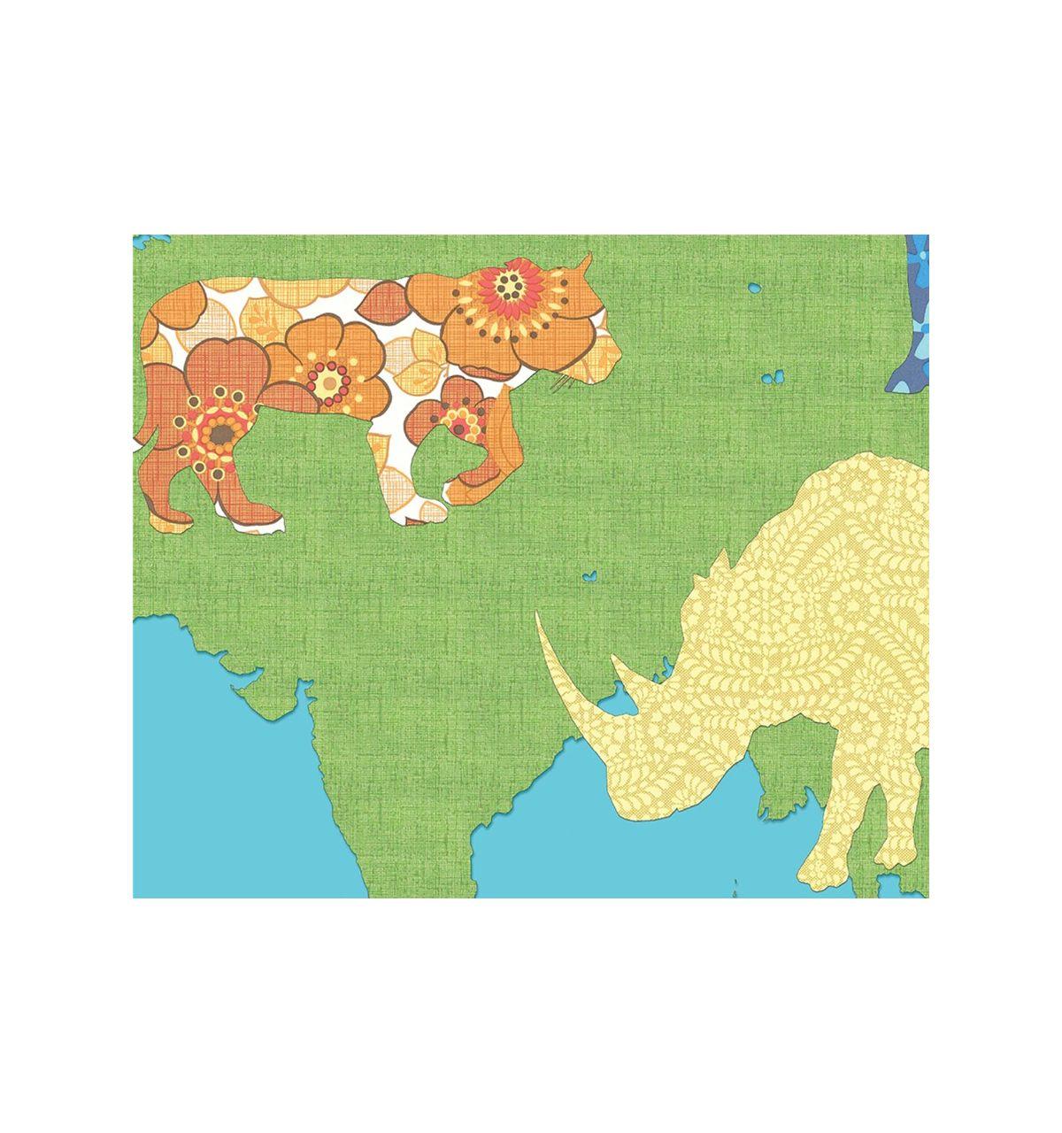 Inke pannello in carta da parati con mappamondo wereld groen for Carta da parati mappamondo