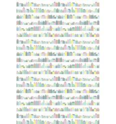 inke - carta da parati pannello casette (huisjes pastel)