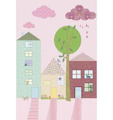 inke - pannello carta da parati case straat