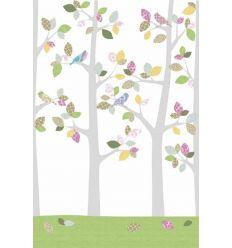 inke - wall mural trees bos mei
