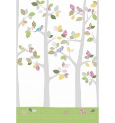 inke - wall print wallpaper trees bos mei