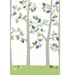 inke - carta da parati pannello alberi (bos juni grijs)