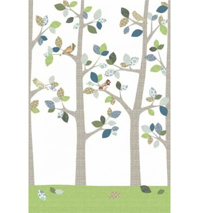 "inke - wall print wallpaper trees ""bos juni"""
