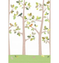 inke - wall print wallpaper trees bos september
