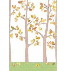 inke - carta da parati pannello alberi (bos oktober grijs)