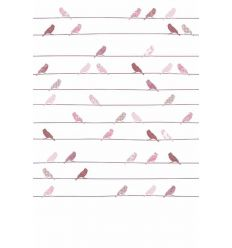 "inke - wall print birds ""vogels roze"""