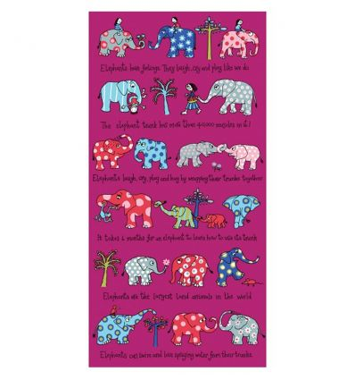 tyrrell katz - telo asciugamano da mare elefanti