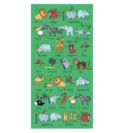 tyrrell katz - telo asciugamano da mare animali della giungla
