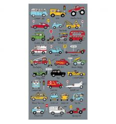tyrrell katz - beach towel cars