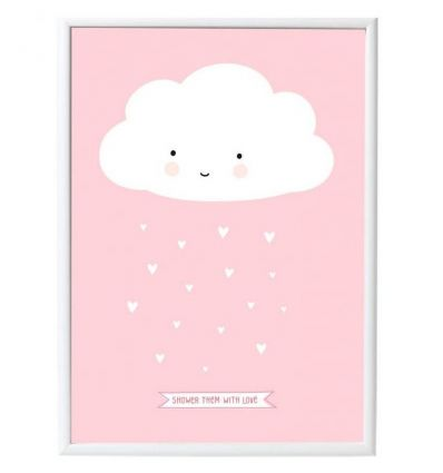 a little lovely company - poster cloud (pink)