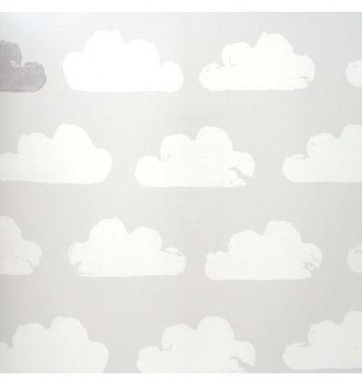 eijffinger - carta da parati nuvole (grigio/bianco)