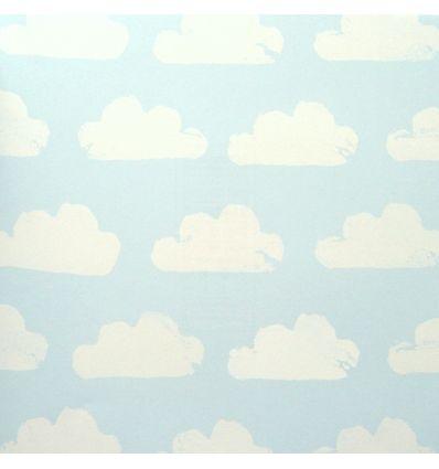 eijffinger - wallpaper cloud (light blue/white)