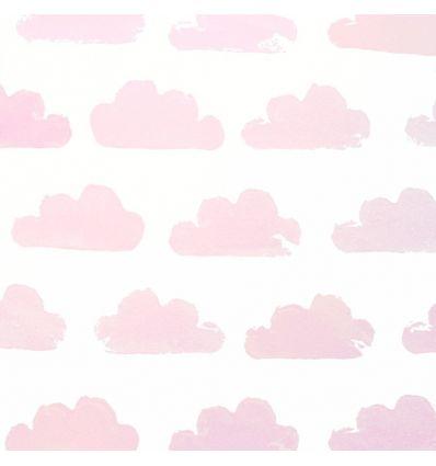 eijffinger - wallpaper cloud (white/pink)