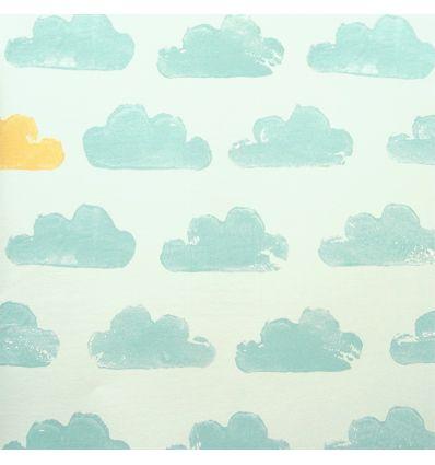 eijffinger - carta da parati nuvole (verde menta)