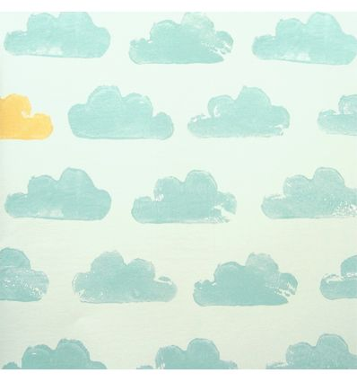 eijffinger - wallpaper clouds (mint green)