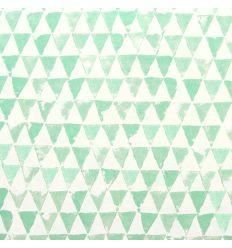 eijffinger - carta da parati triangoli (verde menta)