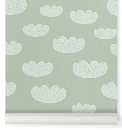 ferm living - wallpaper cloud (mint)