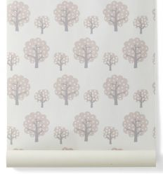 "ferm living - wallpaper trees ""dotty"" (rose)"