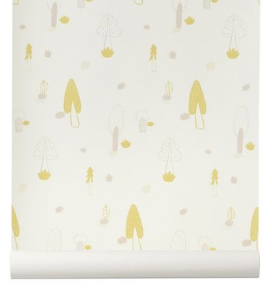 ferm living - wallpaper forest (rose)