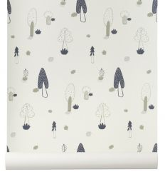 ferm living - wallpaper forest (blue)