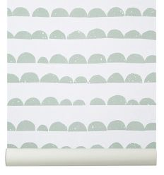 ferm living - wallpaper half moon (mint)