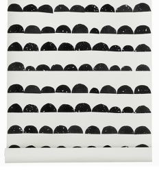 ferm living - wallpaper half moon (black)