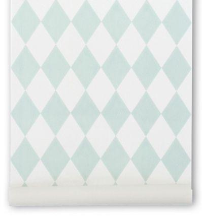 "ferm living - wallpaper ""harlequin"" (mint)"