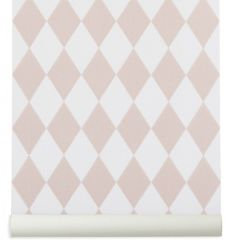 "ferm living - wallpaper ""harlequin"" (rose)"