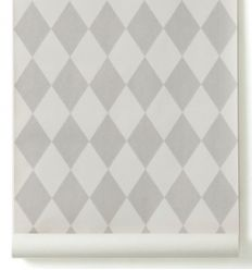 ferm living - wallpaper harlequin (grey)