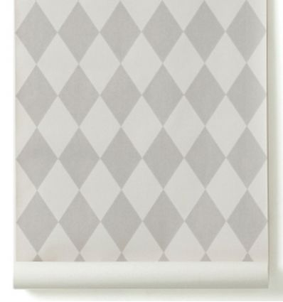 "ferm living - wallpaper ""harlequin"" (grey)"