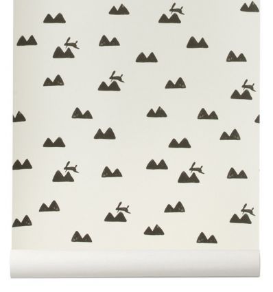 "ferm living - wallpaper ""rabbit"" (off-white)"