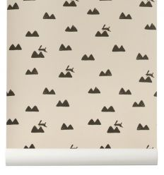 "ferm living - wallpaper ""rabbit"" (rose)"
