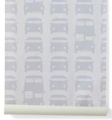 ferm living - carta da parati rush hour (grigio)
