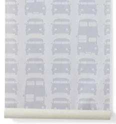 "ferm living - wallpaper ""rush hour"" (grey)"