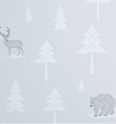 "hibou home - wallpaper ""into the wild"" (stone/artic white)"