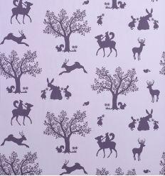 hibou home - carta da parati enchanted wood (lilac/aubergine)