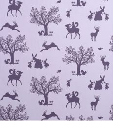 hibou home - wallpaper enchanted wood (lilac/aubergine)