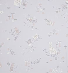 hibou home - carta da parati secret garden (blush pink)