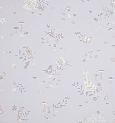 "hibou home - carta da parati ""secret garden"" (blush pink)"