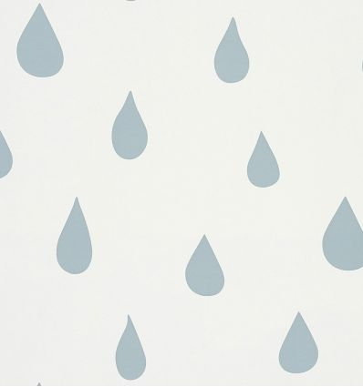 "hibou home - carta da parati ""raindrops"" (ice blue)"