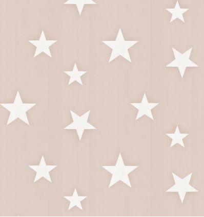 hibou home - carta da parati stars (blush/white)