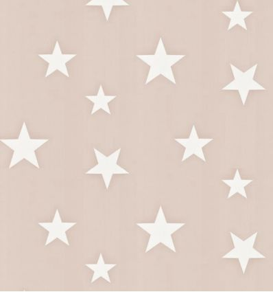 "hibou home - wallpaper ""stars"" (blush/white)"