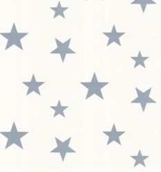 hibou home - wallpaper stars (stellar blue/white)