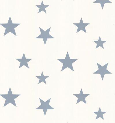 "hibou home - carta da parati stelle ""stars"" (stellar blue/white)"