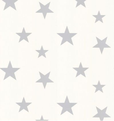 "hibou home - wallpaper ""stars"" (silver/white)"