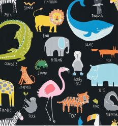 "scion - carta da parati animali ""animal magic"" (tutti frutti/blackboard)"