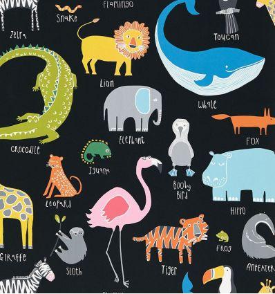 scion - carta da parati animal magic (multicolor/nero)