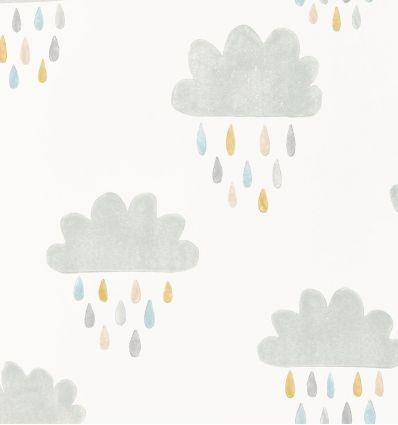 scion - carta da parati april showers (grigio/oliva/azzurro)