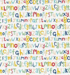 scion - carta da parati letters play (blu/rossso/senape)