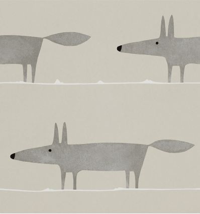 "scion - wallpaper ""mr fox"" (silver)"